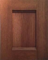 Shaker Door 3_Stained Oak Satin Finish